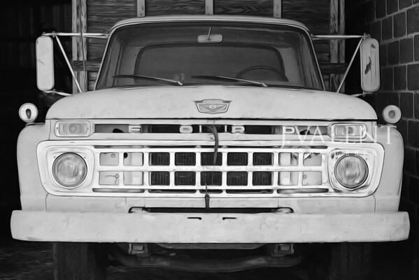 Fine Art:  Ford Truck, Robin Egg Blue