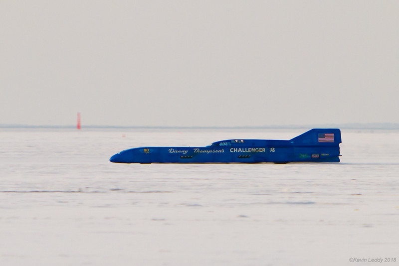 Danny Thompson's 450 mph record setting run Sun, Aug 12 2018,  Bonneville Salt Flats