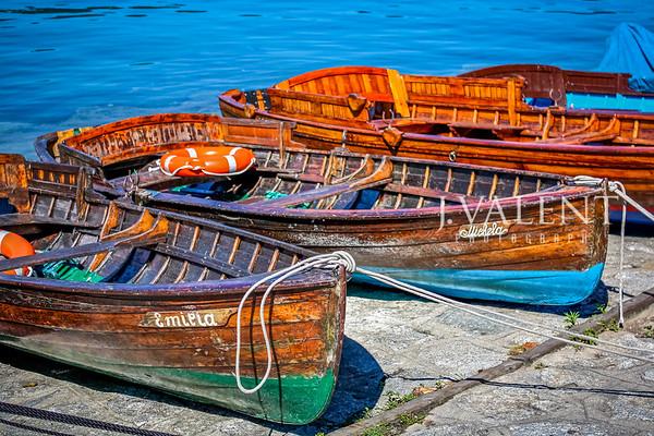 Docks of Orta San Giulio, Italy