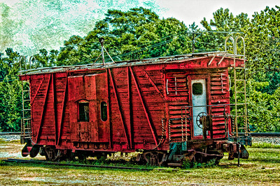 Little Red Caboose Vivian, Louisiana