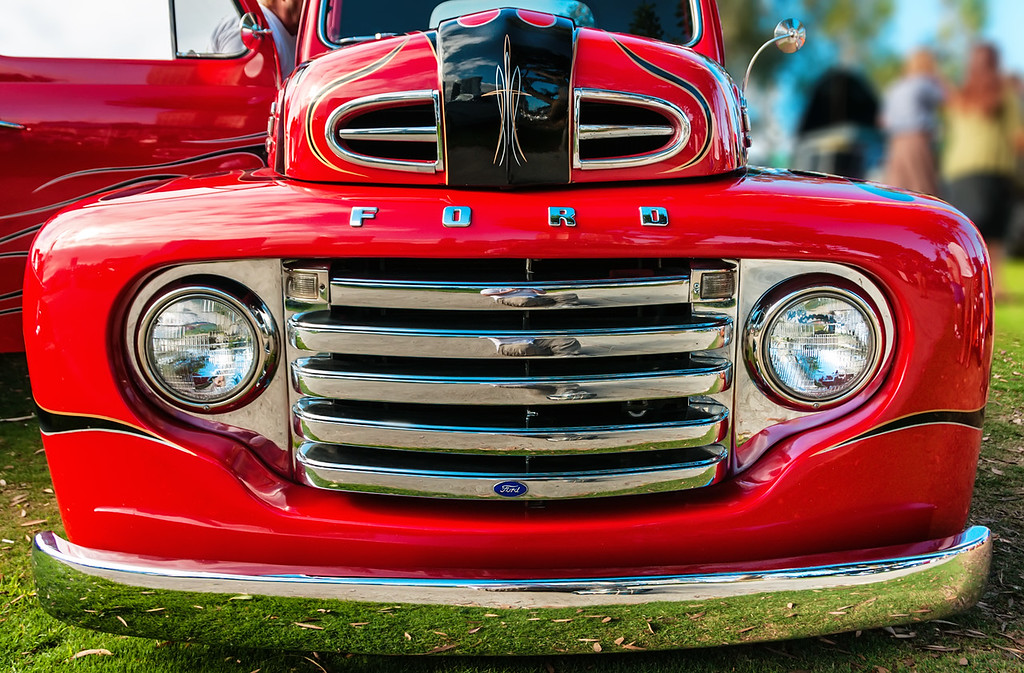 Cherry Red Custom Ford Pickup