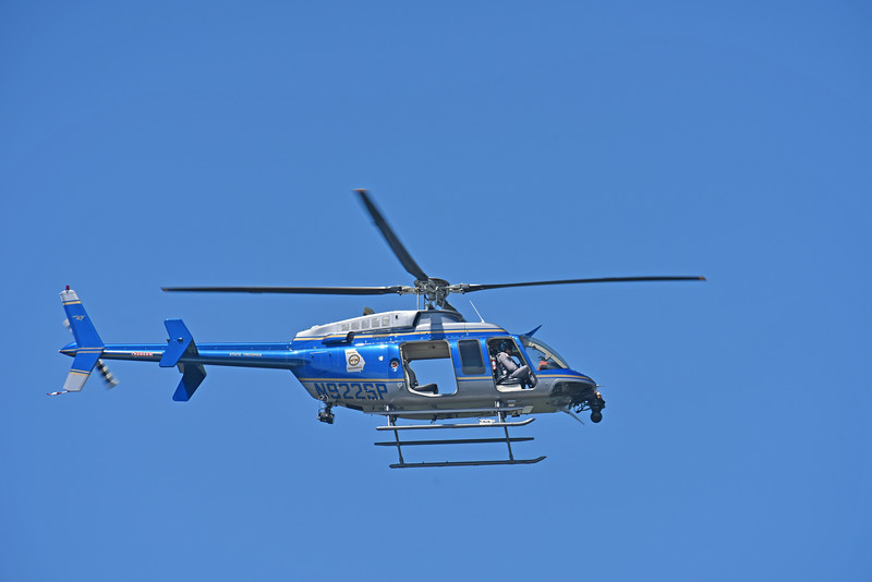 Georgia State Patrol Helicoper on Manouvers over Jekyll Island 05-03-18