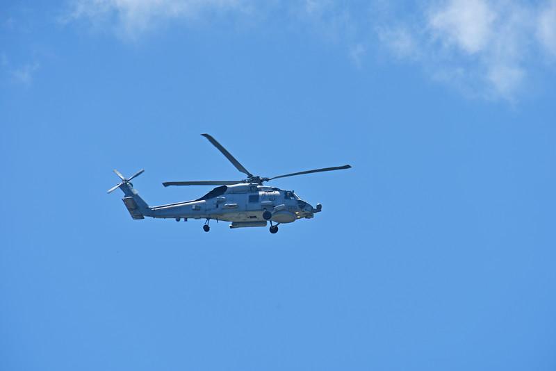 Navy Helicopter over Jekyll Island, Georgia 04-24-18
