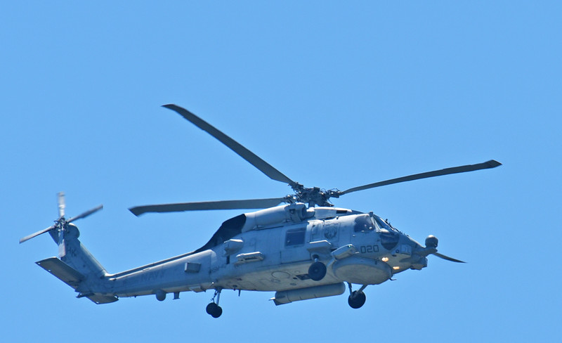 Navy Helicopter over Jekyll Island, Georgia 04-24-18