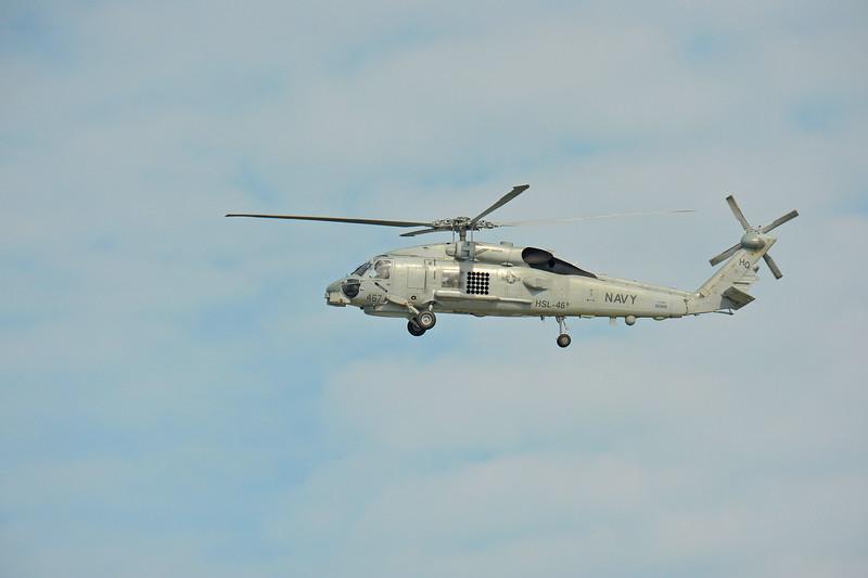 Navy Chopper over Jekyll Creek near Jekyll Island, Georgia 09-14-09