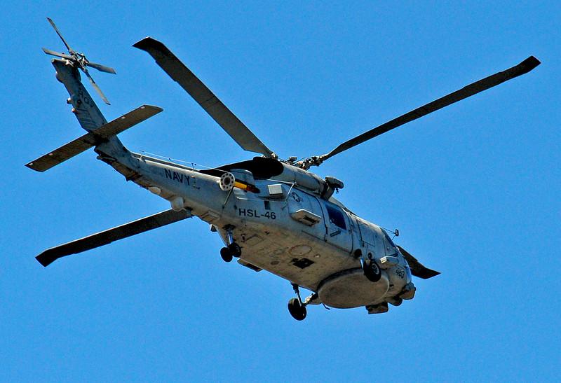 Navy Chopper over Jekyll Island, Georgia
