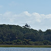 Helicopter over Jekyll Island Airport 10-03-19