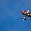 Biplane over Jekyll Creek