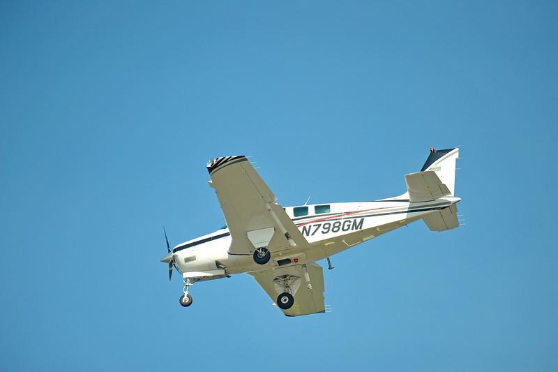 Plane over Jekyll Creek near Jekyll Island, Georgia 09-04-09