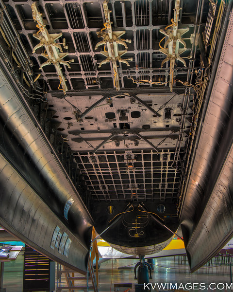 Inside the bomb bay, one of only two Lancaster Bombers still flying. Canadian Warplane Heritage Museum