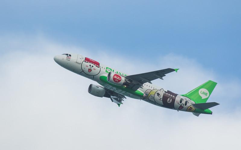 Air Asia A320-216 9M-AHR as AK6309 taking off from Langkawi LGK WMKL.