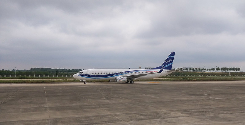 NewGen Airways Boeing 737 NextGen HS-NGN in Beijing/CN.