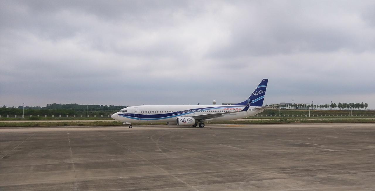 NewGen Airways Boeing 737 NextGen HS-NGN in Beijing/CN.