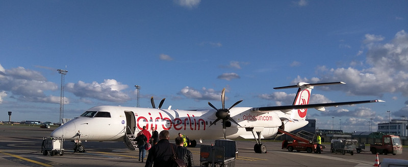 Air Berlin Bombardier Dash 8-Q400 D-ABQQ in Kopenhagen/DK.