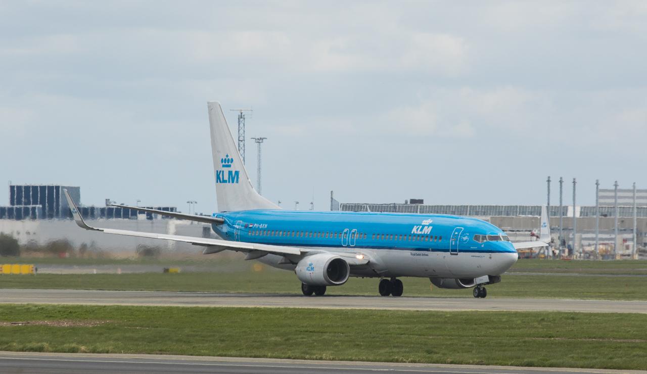 KLM Boeing 737-8K2 in Kopenhagen/DK.