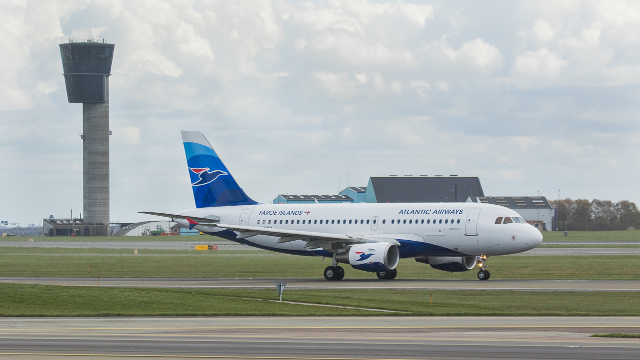 Atlantic Airways Airbus 319-115 in Kopenhagen/DK.