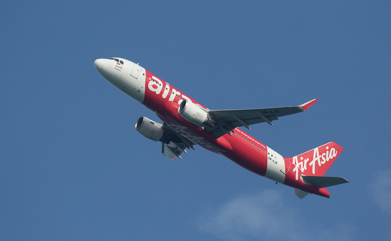 Air Asia A320-216 9M-AJB as AK6309 taking off from Langkawi LGK WMKL.