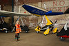 Liz checks out the Micro lights in one of the Hangers