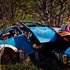 Car parts dumped into Cook Inlet, Alaska. VW bug.