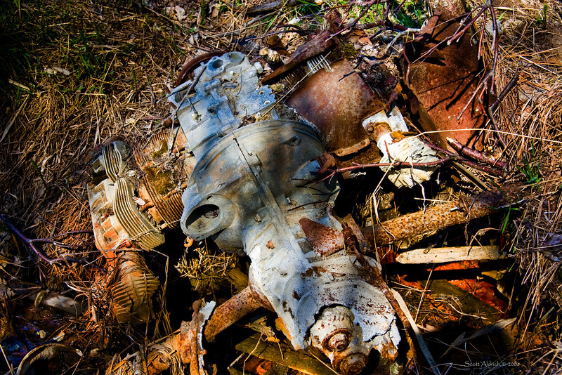 Car parts dumped into Cook Inlet, Alaska.