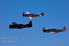 "Top: P-51 ""Red Dog XII""<br /> Middle: T-28B Trojan<br /> Bottom: P-51 ""Ridge Runner III """