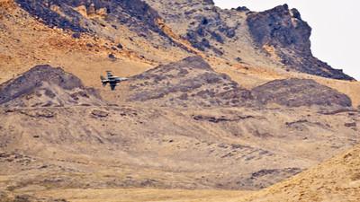 F-16 at lakeside area