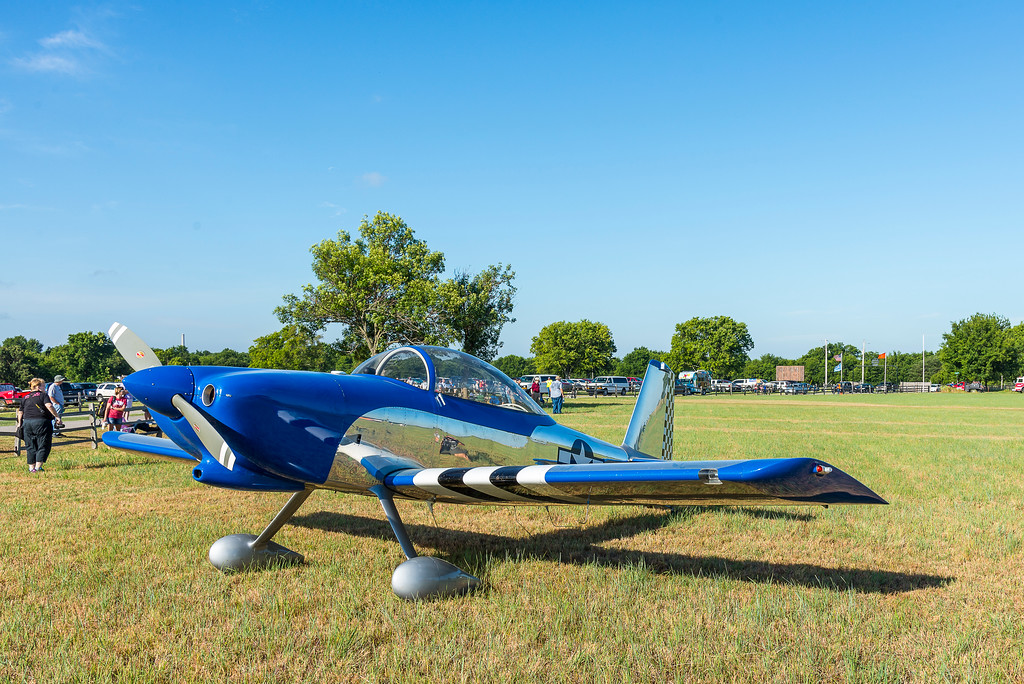 """.<br /> Another """"kit built"""" airplane from Vans Aircraft Inc. at a recent fly-in at Will Rogers Birthplace airstrip near Oolagah, Oklahoma"""