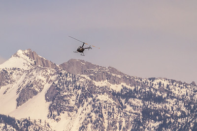 Robinson's R44 and lone peak