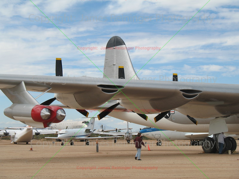 The engines of a B-36 Peacemaker