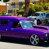 Purple Panel van