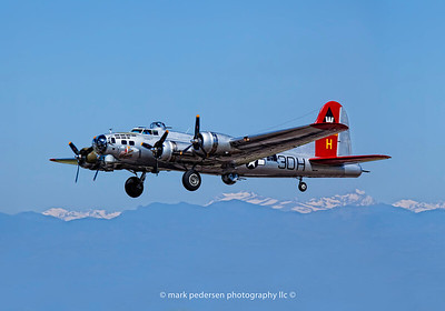 "Aluminum Overcast Over the Rockies | 2011 |  EAA's fully restored  B-17G-VE  ""Flying Fortress"" Aluminum Overcast Takes flight over the Colorado Rockies 