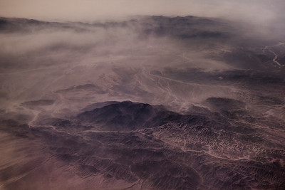 View from plane of Lut Desert, Iran (Post work to increase contrast and clarity to compensate for atmospheric haze).