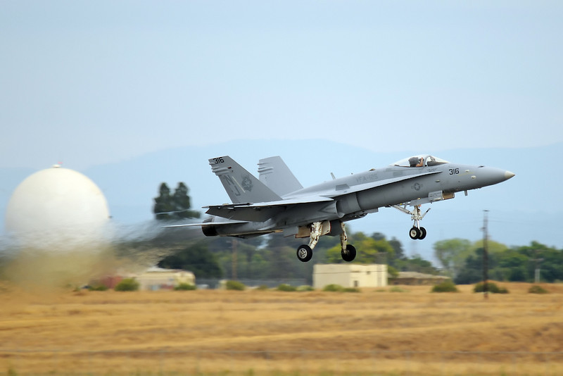F/A-18 Demo Team departs Sunday evening...