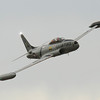 The T-33 Ace Maker did a pass after it took off to depart on Sunday evening...