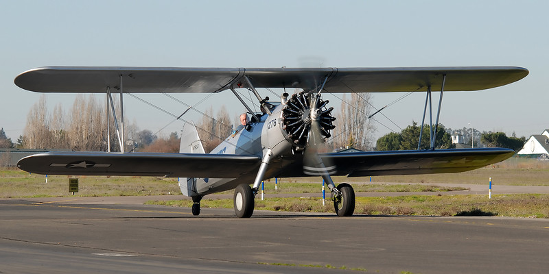 This is the fourth Stearman based at Petaluma, and one of two I have to photograph in the air. Soon...