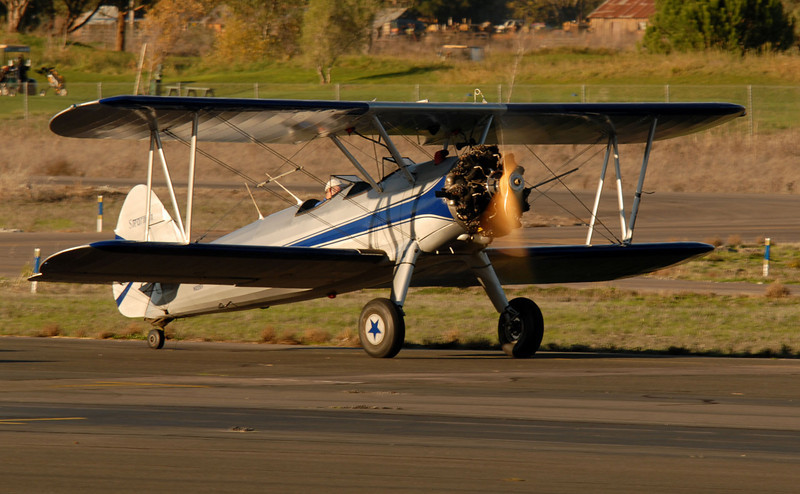 This is one of four Stearman aircraft based at Petaluma, and one of two there that I have yet to photograph in the air.