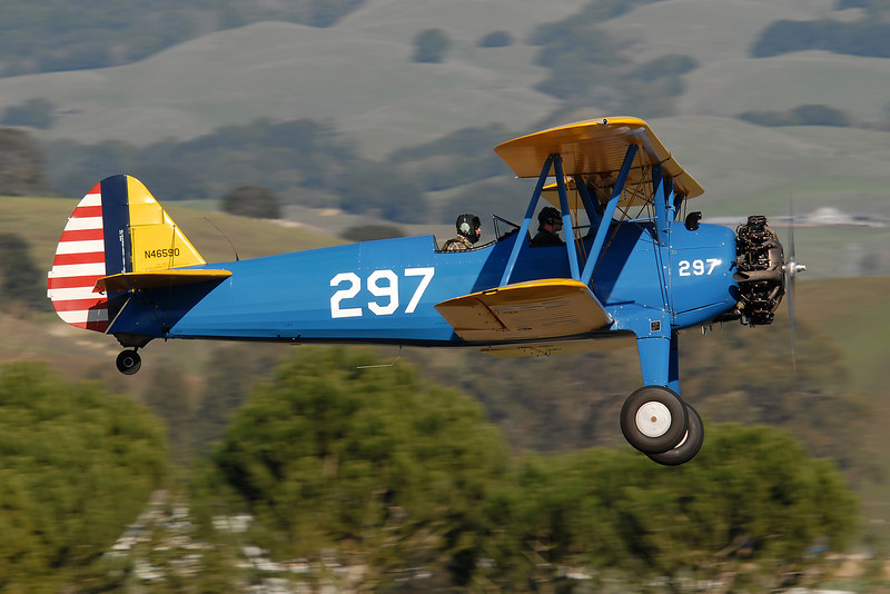 Ol' 297 is based at the Petaluma airport and goes up quite often.