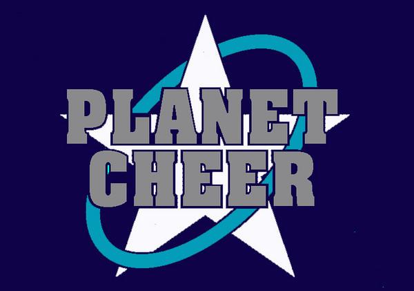 Planet Cheer Master Logo like sign
