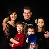 Sergey Beloziorov, Sonya & Kids on a Black Background