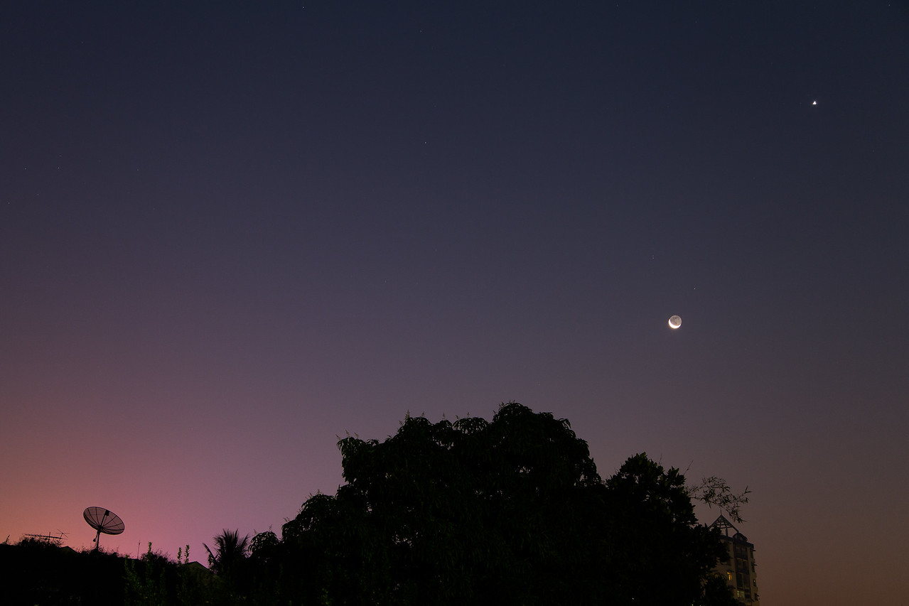 Ground Control To Major Tom — Crescent Moonrise
