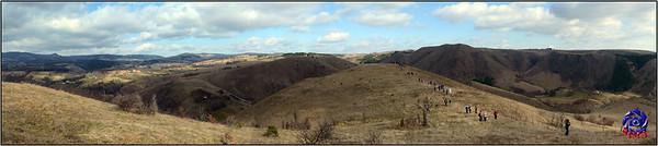 Brda i livade panorama