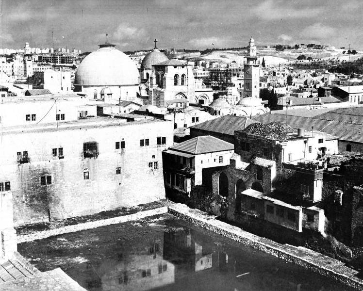 View of the abandoned Hezekiah Pool