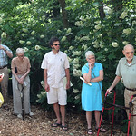 Ralph Archer answered questions during a visit to the Ralph Archer Woodland Garden at Whitehall.