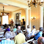 The guests listened as Whitehall\'s Landscape Director Mike Hayman spoke.