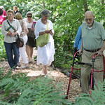 Ralph Archer was one of the guides through the Ralph Archer Woodland Garden at Whitehall.