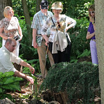 Noted plant curator Richie Steffen pointed out a fern to the guests while walking through the Ralph Archer Woodland Garden at Whitehall.