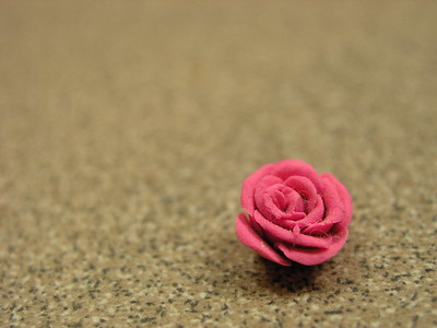 Play-Doh rose by Samantha Burrow