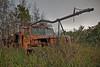 Dole Plantation abandon boom truck