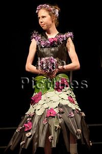 dress from plants,jurk uit planten,robe de plantes,special olympics 2011