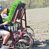 KRISTOPHER RADDER — BRATTLEBORO REFORMER<br /> People at Harlow Farm, in Westminster, Vt., plant corn in one of their fields on Thursday, May 14, 2020.